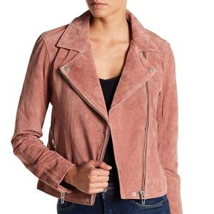 New BLANK NYC Suede Leather Moto Jacket Size XS